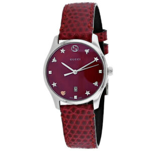 adf2ba76a4d Gucci G-timeless Leather Ladies Watch YA126584 for sale online