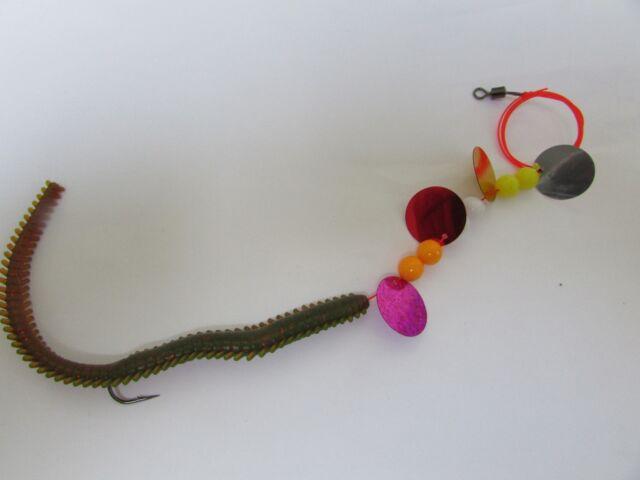 1x Ragworm sea fishing.SNOOD.1/0 aberdeen hook lures bass cod rig TACKLE,