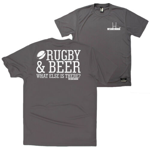 FB Rugby Tee Novelty Birthday Dry Fit Performance T-Shirt Rugby And Beer