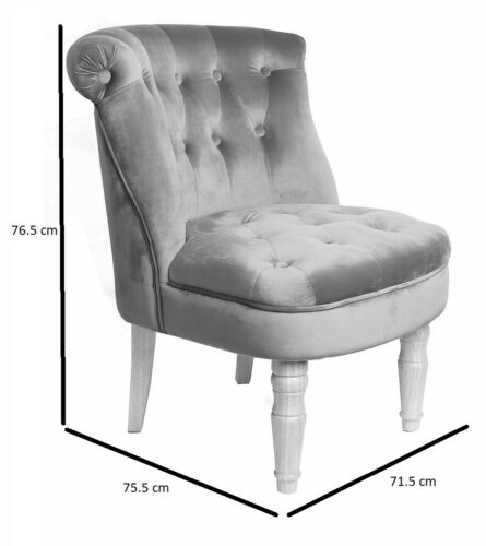 Charlotte Teal Chair / French Style Blue Chair / Chesterfield Occasional Seat