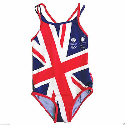 NEW GIRLS OLYMPIC SWIMMING COSTUMES GREAT BRITAIN ENGLAND DESIGN SWIMSUIT SWIM