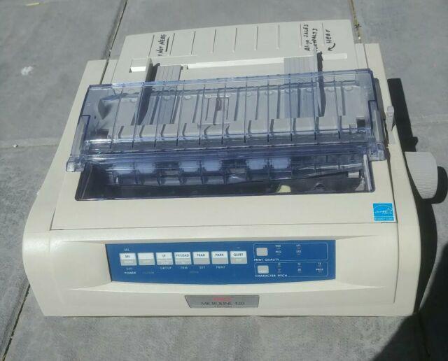 Okidata OKI Microline 420 D22900A 9-Pin Dot Matrix Printer WITH ALL Cables