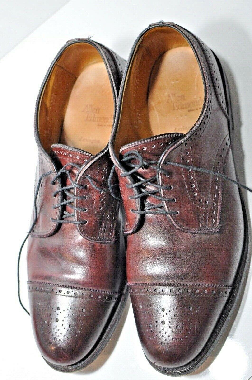 Allen Edmonds Lexington Mens leather cap toe Dimensione Dimensione Dimensione 12 B made in USA 8aa460