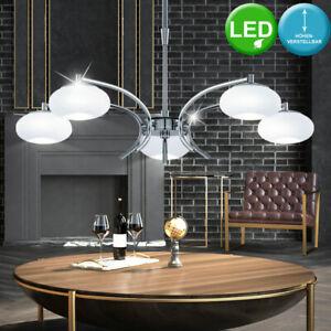 18 Watt LED Pendel Hänge Leuchte Wohn Zimmer Glas Lampe klar Chrom Beleuchtung