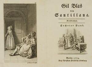 Chodowiecki (1726-1801). Gil Blas in stella & raccomandazione re Philipps IV.
