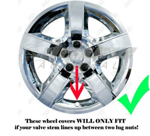 "17/"" Chrome BOLT-ON Wheel Covers Hubcaps FITS Pontiac G6 Chevy Malibu"
