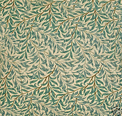 William Morris Willow Bough Green Lined Curtains - Various Sizes