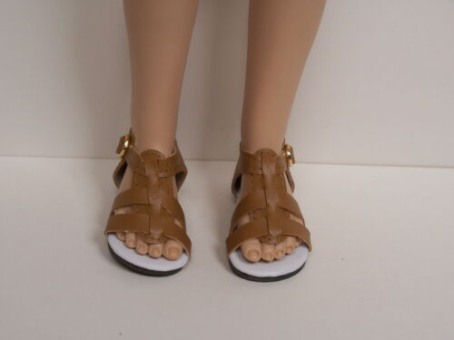 "Debs LT BROWN Strappy Sandals Doll Shoes For 16/"" Kish Spring Summer Winter Fall"