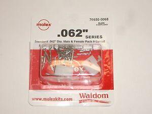 "MOLEX 76650-0068 .062"" 9 CIRCUIT POWER PLUG SOCKET SET OF 1 W/ PINS FOR LINCOLN"