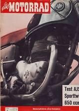 DAS MOTORRAD 1/59 AJS Sporttwin 650 ccm/Schnellermachen/10.1.1959/Geburtstag