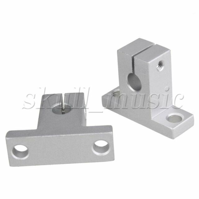2x Silver SK8 Linear Rail Shaft Support 8mm  CNC for 3D Printer Milling