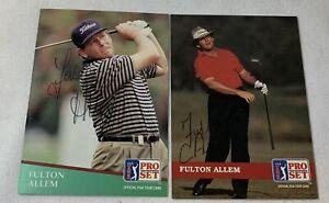 lot of 2 hand signed autographed PGA Pro Set cards ~ FULTON ALLEM