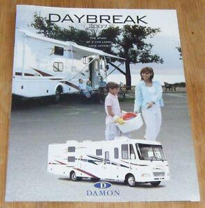 Details about Damon Daybreak RV Motor Coach (Motorhome) Brochure - 2007  Ref: DC 8/06