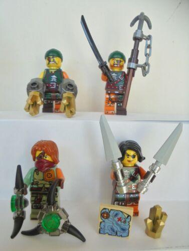 4x Lego Figuren Ninjago Cyren Sqiffy Bucko Ronin Neu Ninja Waffe Figur Waffen