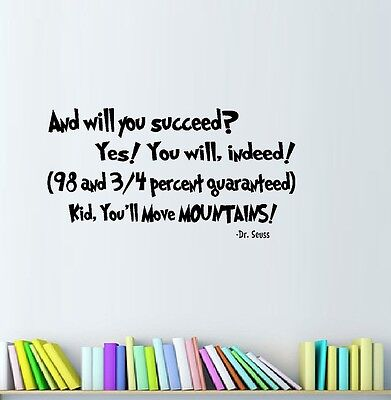 And You Will Succeed Wall Decal Popular Ebay