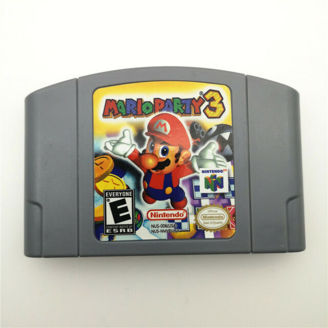 Mario Party 3 For Nintendo 64 N64 Console Game Cartridge Card -US Version