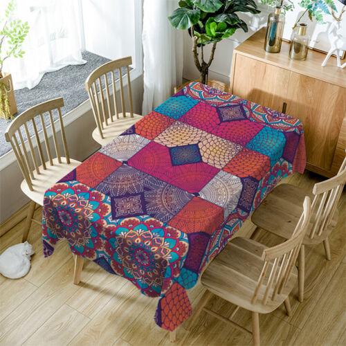Decorative Home Kitchen Large Rectangular Banquet Soft Tablecloth