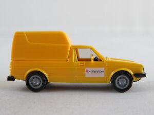 Wiking-47-VW-Caddy-1979-034-Telekom-T-Service-034-in-gelb-1-87-H0-NEU-unbespielt