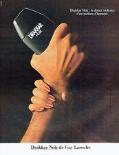 PUBLICITE ADVERTISING 027  1982  Drakkar noir  parfum homme Guy Laroche