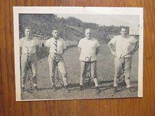 HERMAN SMITH/JIM McQUEEN/JIM MEADE/BILL  YOUNG  Signed 6 x 4 Photo-1949  Furman