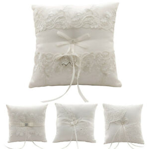 New Ring Pillow Exquisite Floral Ribbon Wedding Ceremony