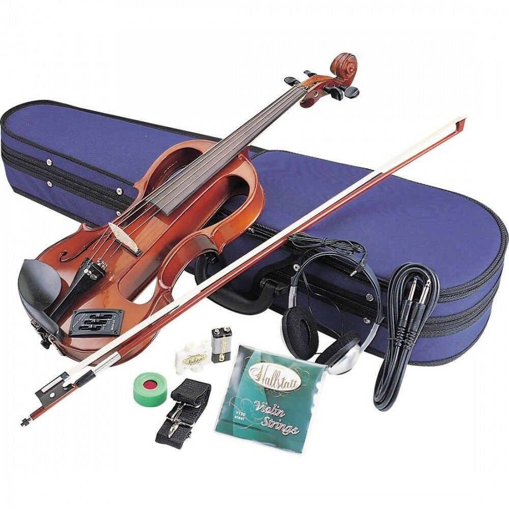 NEW Halstatt Electric Violin EV30 NBR Natural Braun Japan Import Fast Shipping