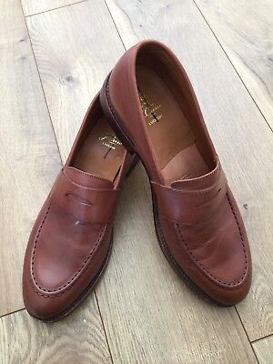 50fdbb9a8d0 J.CREW MENS LUDLOW PENNY LOAFERS DRESS SHOE A4362 SIZE 11.5 D  298 ENGLISH  TAN