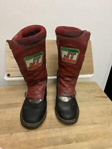 Vintage-JT-Racing-Spain-Biker-Boots-Leather-rare