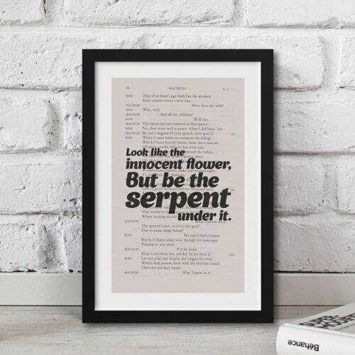Shakespeare Look-like-the-innocent-flower Printed On Book Page Quote Book Gifts