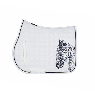 Equiline Holly Octagone Saddle Cloth-white-schabracke-mostra Il Titolo Originale