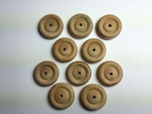 10 x 60mm Wooden Wheels for Model Making