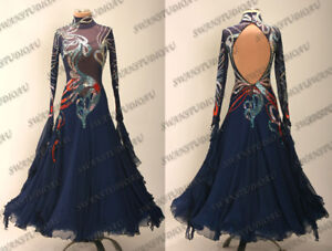 145996afa66 Image is loading A-NEW-BALLROOM-STANDARD-SMOOTH-DANCE-COMPETITION-DRESS-