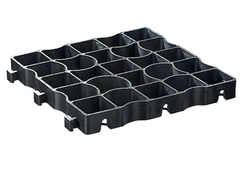1sqm EcoGrid E40 Black Plastic Porous Paving Ground Reinforcement Grid