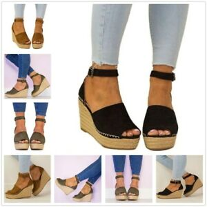 Women-Ankle-Strap-Open-Toe-Wedge-Sandal-Cork-Espadrille-Platform-High-Heel-Shoes