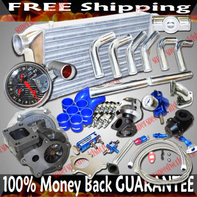 T3/T4 Turbo+Intercooler+Piping Kit Combo for 04 05 06 07 Mazda RX-8 RX8