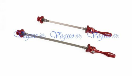 HOLLOW QUICK RELEASE QR LEVER SKEWER SET NEW KREX MTB SQUARE AXLE RED