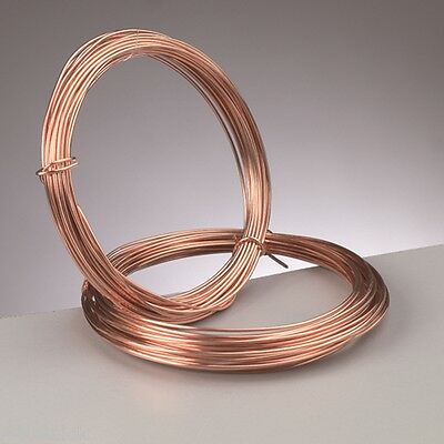 1.2 mm (16 gauge) PURE COPPER  CRAFT/JEWELLERY WIRE  3 metres