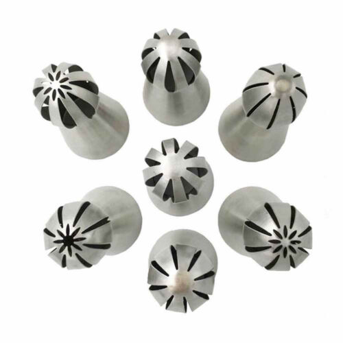 7Pcs//Set Russian Flower Icing Piping Nozzles Tip Pastry Cake DIY Baking Tool