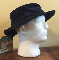 Woolrich Corduroy Bucket Hat Floppy Navy Blue Men's L/xl