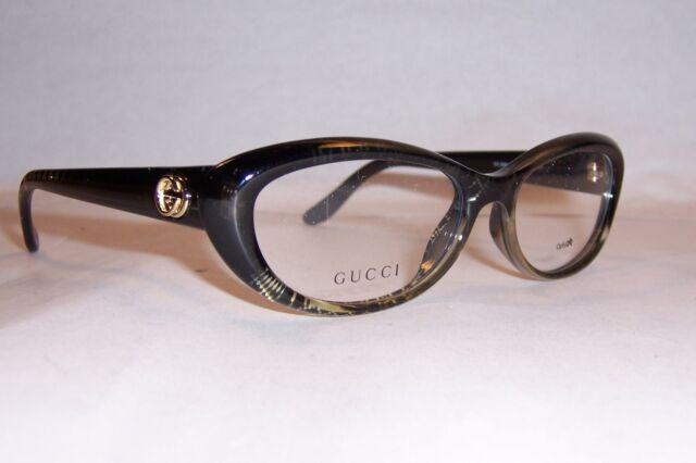 7bb5c09aeb Gucci Womens Eyeglasses 3566 W8h 16 Plastic Oval Black Gold Frames ...