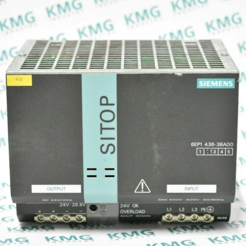 used Siemens sitop Power Supply 20a 6ep1 436-3ba00 6ep1436-3ba00