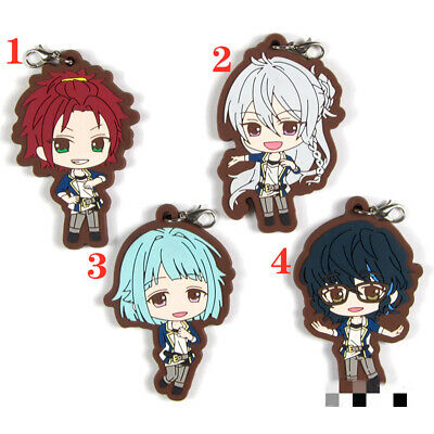 Anime Ensemble Stars Rubber Keychain Key Ring straps cosplay