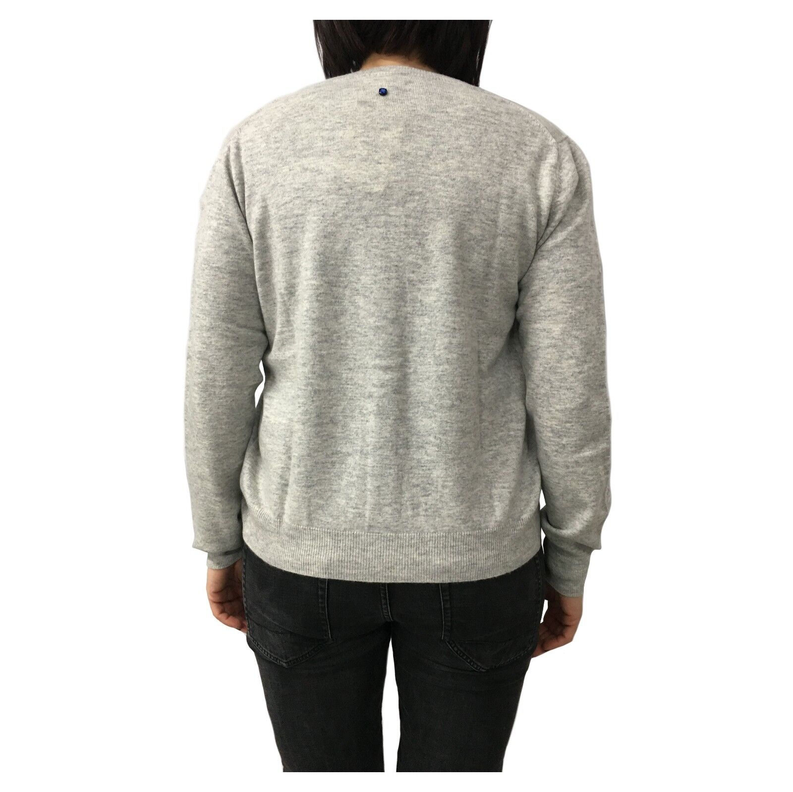 CA' VAGAN twin-set woman pearl 90% wool 10% cashmere cashmere cashmere MADE IN MONGOLIA a562a1