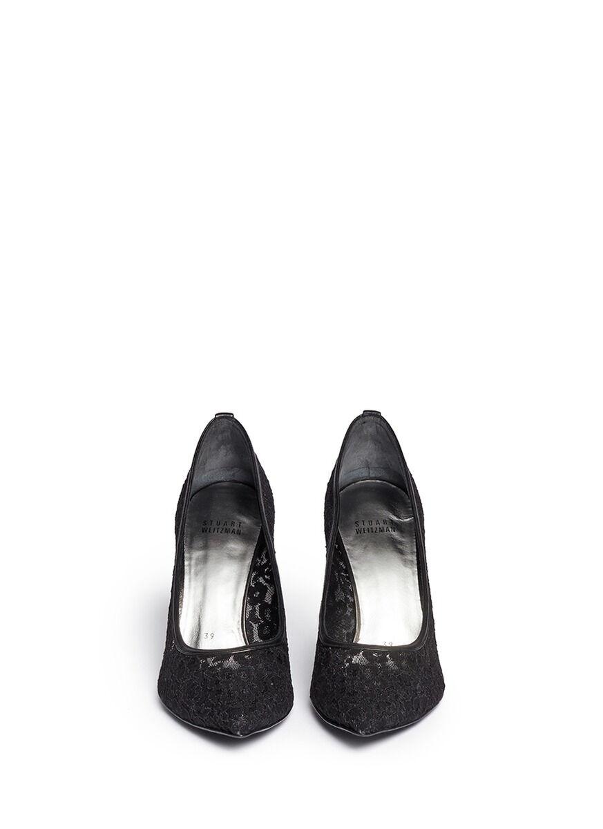 saldi Stuart Weitzman Weitzman Weitzman 'heist' Guipure Lace Pump nero  scarpe 10 M NEW  lo stile classico