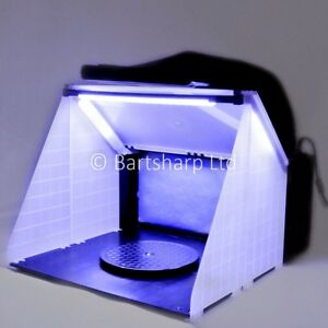 Airbrush Spray Booth Extractor Exhaust Kit Led Lights