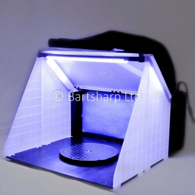 Airbrush Spray Booth Extractor Exhaust Kit LED Lights Spray Booths UK Stock
