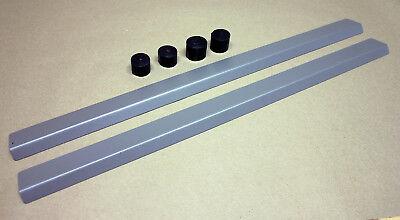 JEEP CJ7 CJ8 YJ NEW Steel Door Sill Covers w//Titanium Finish Tub Entry Guards