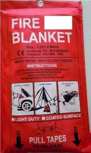 FIRE BLANKET FOR VEHICLE
