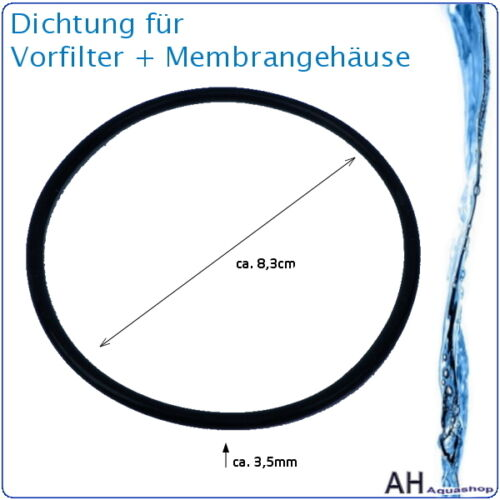 Dichtung 3,5mm Vorfilter Gehäuse Osmose Wasserfilter Membrangehäuse 300 500 GPD