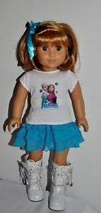 AMERICAN-MADE-DOLL-CLOTHES-FOR-18-INCH-GIRL-DOLLS-DRESS-LOT-034-FROZEN-034